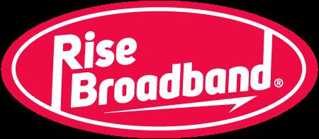 Rise Broadband logo.