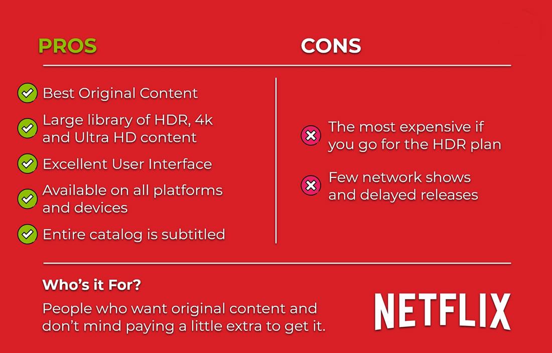 Netflix - Pros & Cons